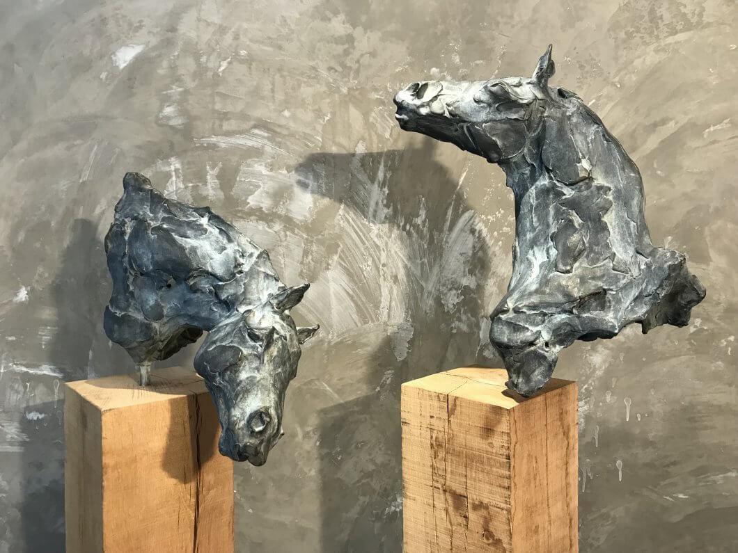 Horse head sculpture Romulus and Remus equestrian sculpture